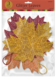 Leaves Glitter & Plastic Wire Hanger | Party Supplies