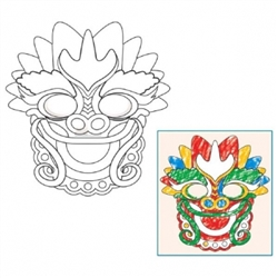 Color Your Own Dragon Masks | Party Supplies
