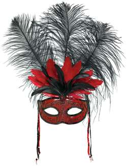 Temptation Feather Mask | Halloween Party Supplies