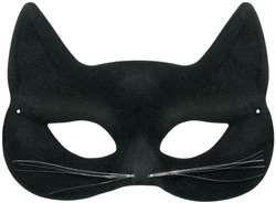 Black Feline Mask | Halloween Party Supplies