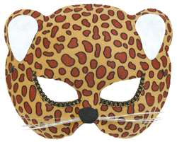 Brown Jungle Cat Mask | Halloween Party Supplies
