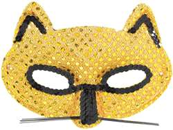 Metallic Fancy Cat Mask | Halloween Party Supplies