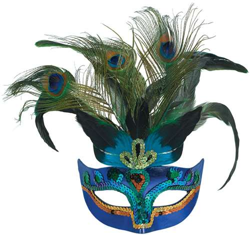 Peacock Feather Mask | Halloween Party Supplies