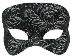Lace Mask - Black | Party Supplies