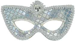 Grand Mask - Silver Sequins | Party Supplies
