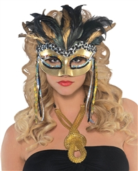Warrior Goddess Feather Mask | Party Supplies