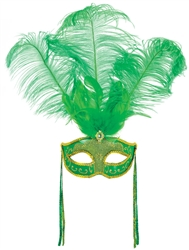 St. Patrick's Feather Mask | St. Patrick's Day Mask