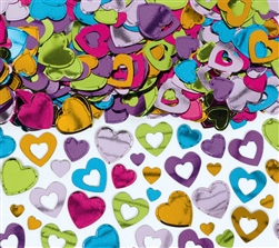 Heart Confetti - Multi Color | Valentines supplies