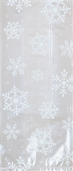 White Snowflake Large Cello Party Bag | Party Supplies
