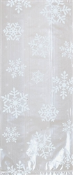 White Snowflake Small Cello Party Bag | Party Supplies