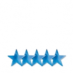 "Blue 5"" Foil Star 