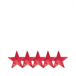 "Red 5"" Foil Star 