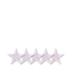 "Iridescent 5"" Foil Star 