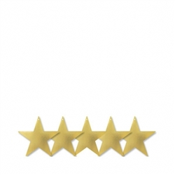 "Gold 5"" Foil Star 