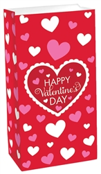 Valentine's Day Red Treat Sack | Valentines supplies