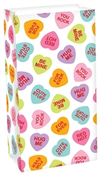 Candy Hearts Treat Sack | Valentines supplies