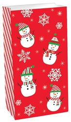 Snowman Value Pack Treat Sacks | Party Supplies