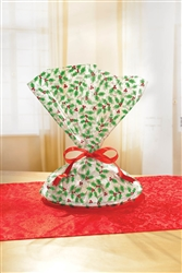 Holly Cookie Tray Bags | Party Supplies