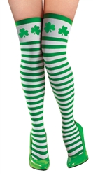 St. Patrick's Day Striped Thigh-Highs | St. Patrick's Day Stockings