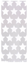 Star White Large Cello Party Bags | Party Supplies