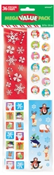 Christmas Printed Paper Sticker Strip | Party Supplies