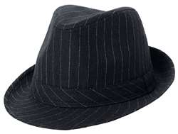 Fedora Pinstripe Black Hat | Party Supplies