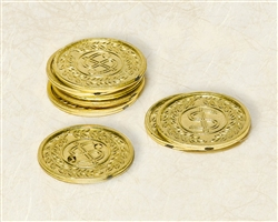 Gold Plastic Coins | Party Supplies