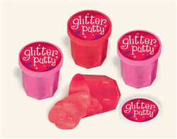 Valentine Glitter Putty | Valentines party favors