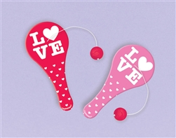 Valentine Plastic Paddle Ball | Valentines Game