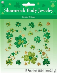 Shamrock Glitter Body Jewelry | St. Patrick's Day Glitter Jewelry