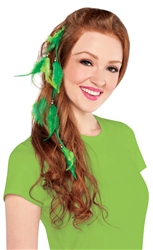 St. Patrick's Day Feathered Hair Extension | St. Patrick's Day Hair Extension