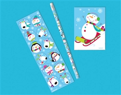 Jolly Snowman Favor Set | Party Supplies