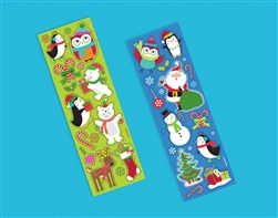 Christmas Printed Paper Strip Sticker | Party Supplies