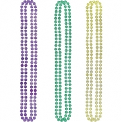 Mardi Gras Plastic Coin Necklaces | party supplies