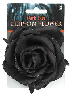 Goth Clip On Flower | Party Supplies