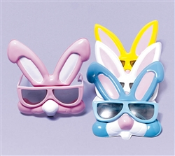 Rabbit Plastic Sunglasses Asst. | Party Supplies
