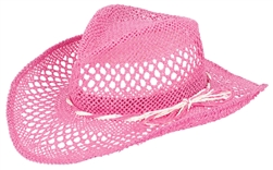 Pink Beach Woven Cowboy Hat | Party Supplies