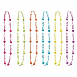 Aloha Bead Necklaces | Party Supplies