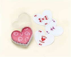 Heart-Shaped Bulk Playing Cards | Valentines Day Cards