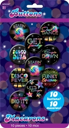 70's Disco Buttons | Party Supplies