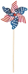 Patriotic Wood Pinwheel - 18"