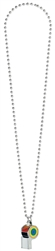 Rainbow Whistle on Chain Necklace | Party Supplies