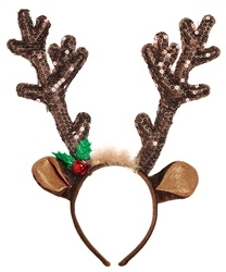 Brown Antler Headband | Party Supplies