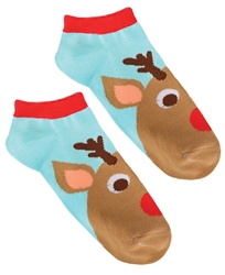 Reindeer No Show Socks | Party Supplies