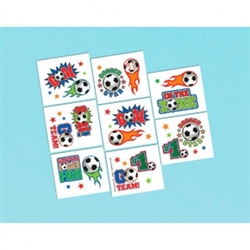 Soccer Fan Tattoos | Party Supplies