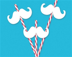 Christmas Mustache Straw | Party Supplies