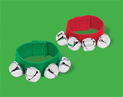 Christmas Fabric Bracelet w/Bell Bulk Favor | Party Supplies