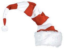 Striped Bend-to-Shape Santa Hat | Party Supplies