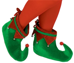 Green & Red Elf Shoes | Party Supplies