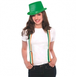 Irish Flag Striped Suspenders | St. Patrick's Day Suspenders